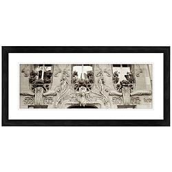 "Building Faade 30 1/2"" Wide Giclee Framed Wall Art"