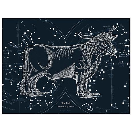 "Taurus Zodiac 16"" Wide Giclee Framed Wall Art"