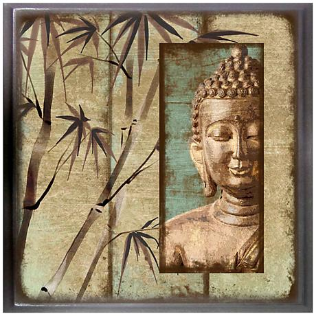 "Buddha Peace I 12"" Square Giclee Wall Art"