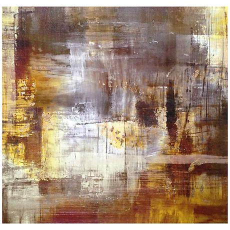 "Butterscotch Caramel 24"" Square Abstract Giclee Wall Art"