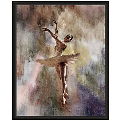 "Ballet Dancer 30"" High Giclee Canvas Framed Wall Art"