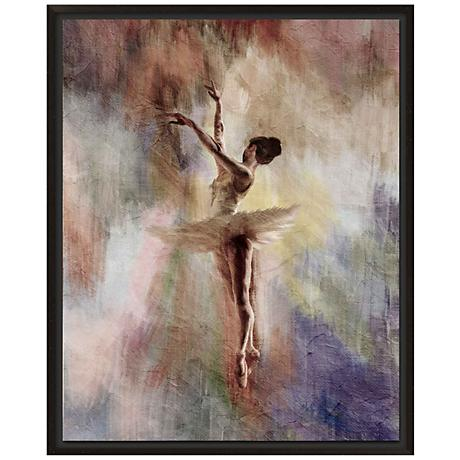 "Ballet Dancer II 30"" High Giclee Canvas Framed Wall Art"