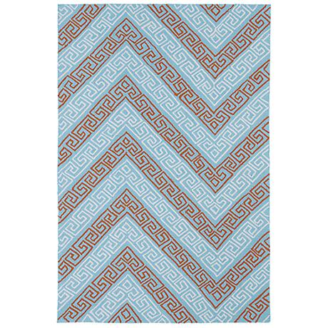 Kaleen Matira MAT11-79 Light Blue Indoor-Outdoor Rug