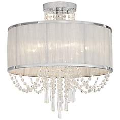 "Ellisia 19 3/4"" Wide Crystal Ceiling Light"