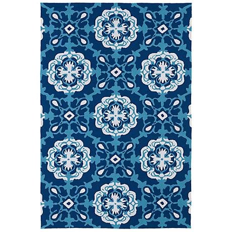 Kaleen Matira MAT12-17 Blue Indoor-Outdoor Rug