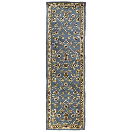 Kaleen Mystic 6001-17 William Blue Wool Area Rug