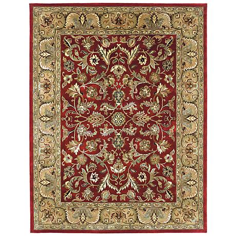 Kaleen Mystic 6001-25 William Red Wool Area Rug