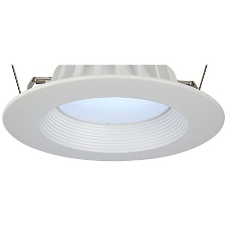 "6"" Recessed 11-W  Dimmable LED Retrofit Light Trim in White"