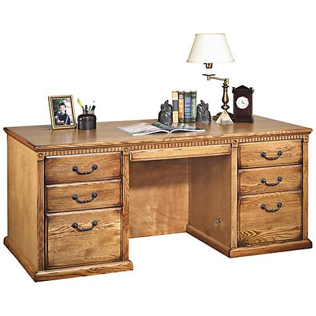 Kathy Ireland Home Huntington Wheat Executive Desk