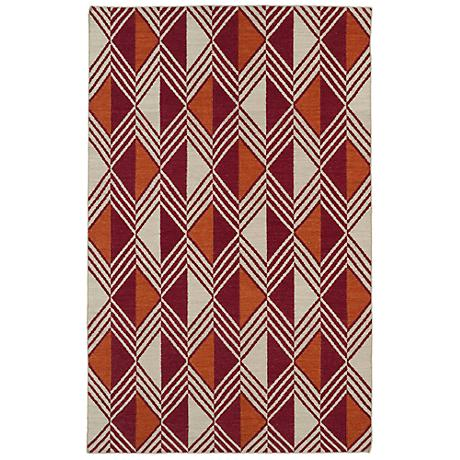 Kaleen Nomad NOM06-25 Red Wool Area Rug
