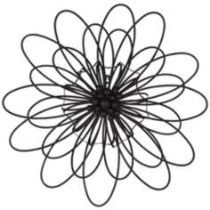 "Novella Metal Flower 24 1/2"" Round Sunburst Wall Art"