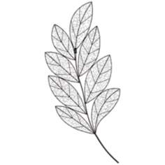 "Allende Bronze Leaf 42 1/2"" Wide Metal Wall Art"