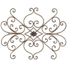 "Terroso Open Scroll 30"" Wide Metal Wall Art"