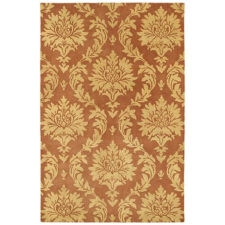 Kaleen Soho 2501-06 Brighton Brick Wool Area Rug