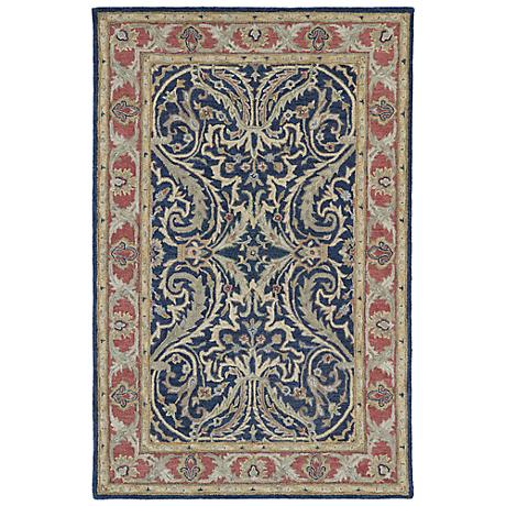 Kaleen Solomon 4050-17 Tyre Blue Wool Area Rug