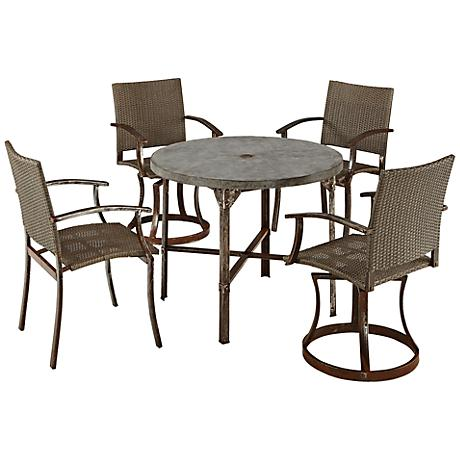 Urban 5-Piece Outdoor Mixed Chair Dining Set