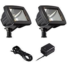 LED Flood Light Landscape Kit in Black