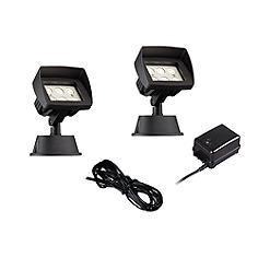 Super Duty Eastham Black 4-Piece LED Landscape Lighting Set