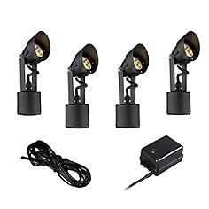 Super Duty Black 6-Piece LED Landscape Lighting Set