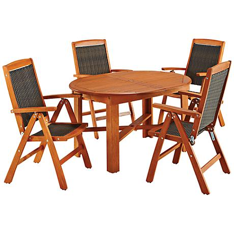Bali Hai Eucalyptus 5-Piece Outdoor Dining Set