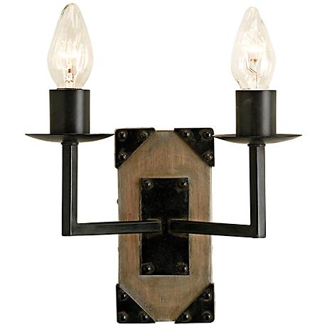 "Currey and Company Eufaula 10"" High 2-Light Wall Sconce"