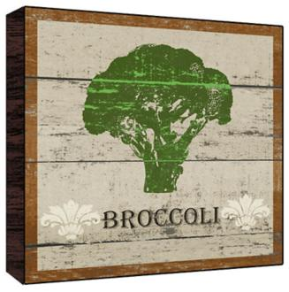 "Earthy Green Broccoli 12"" Square Rustic Wood Wall Art Broccoli Seeds, Broccoli Seed, Broccoli Raab Seed, Broccoli, Raab, Rapini, Garden Seeds, Vegetable"