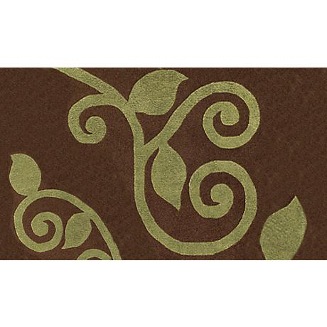 Fogli Brown and Green Doormat