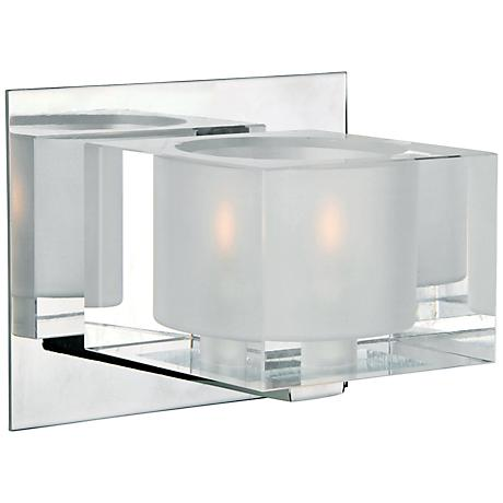 "Maxim Cubic 5 3/4"" Wide Polished Chrome Bath Light"