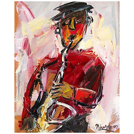 "Abstract Musician I 30"" High Giclee Canvas Wall Art"