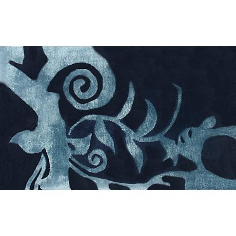 Cosa Bella Teal and Dark Blue Doormat