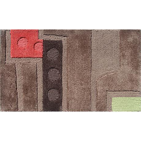 Counterpoint Brown and Red Doormat