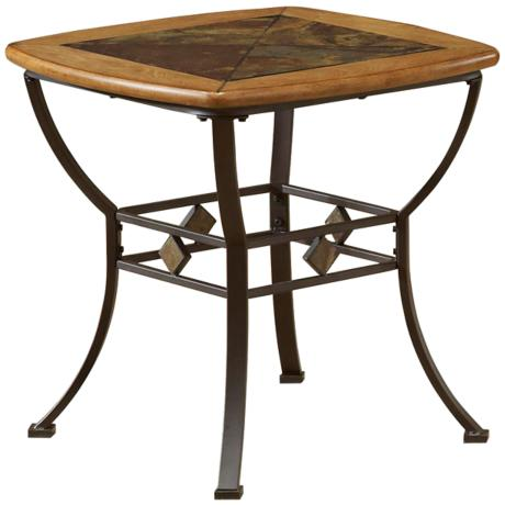 Hillsdale Lakeview Rustic End Table 4X628