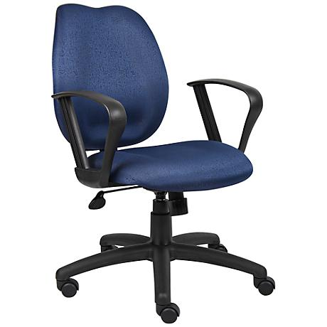 Boss Loop Arm Blue Task Chair
