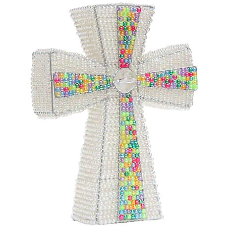 Beadworx Cross Hand-Crafted Beaded Night Light