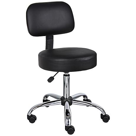 Boss Caressoft Black Medical/Drafting Stool