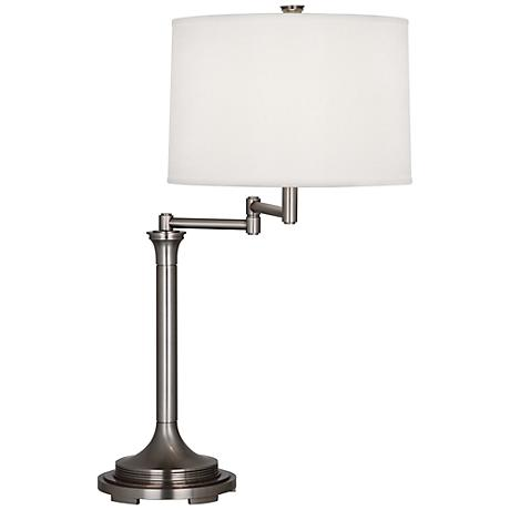 Robert Abbey Sofia Antique Nickel Swing Arm Table Lamp
