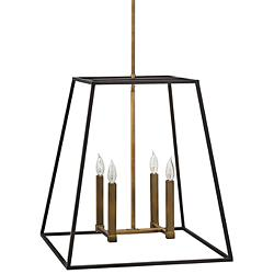 "Hinkley Fulton 22"" Wide Bronze Entry Pendant"