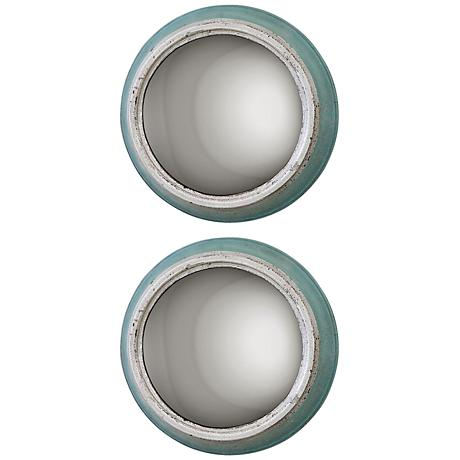 "Uttermost Set of 2 Fanchon 15"" Round Wall Mirrors"