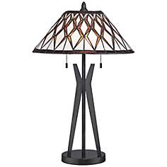 Quoizel Dumont Art Glass Table Lamp