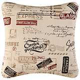 "Air Mail 18"" Square Decorative Printed Pillow"