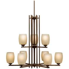 Kichler Sabina Collection Olde Bronze Nine Light Chandelier