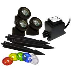 Power Beam Halogen Landscape 3-Light Kit