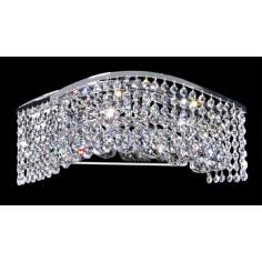 Crystal Wave Six Light Bathroom Light
