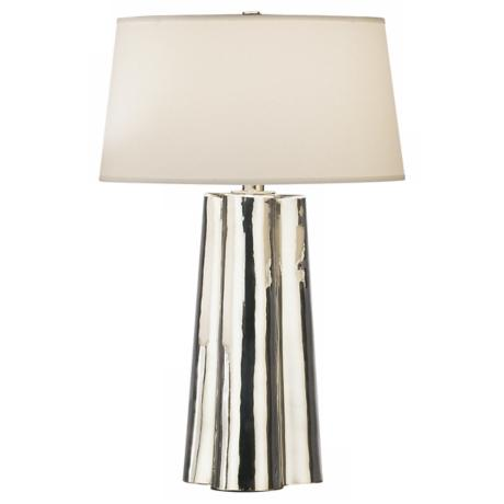 Robert Abbey Wavy Collection Mercury Glass Table Lamp