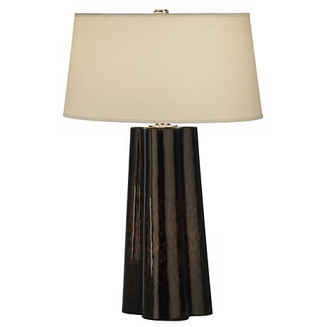 Robert Abbey Wavy Collection Brown Amber Table Lamp
