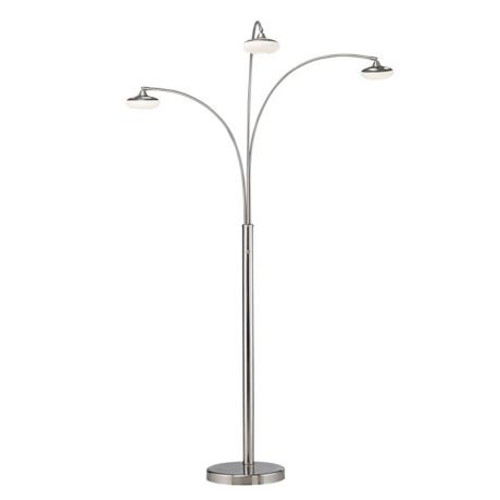 Nova Three Light Round Glass Shades Arc Floor Lamp