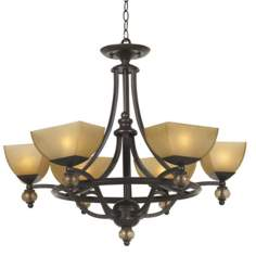 Possini Morocco Collection Six Light Round Chandelier