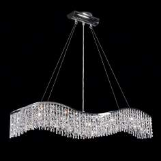 James R. Moder 5 Light Crystal Wave Bar With Icicles