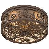 "Casa Seville 15"" Wide Indoor - Outdoor Ceiling Light Fixture"