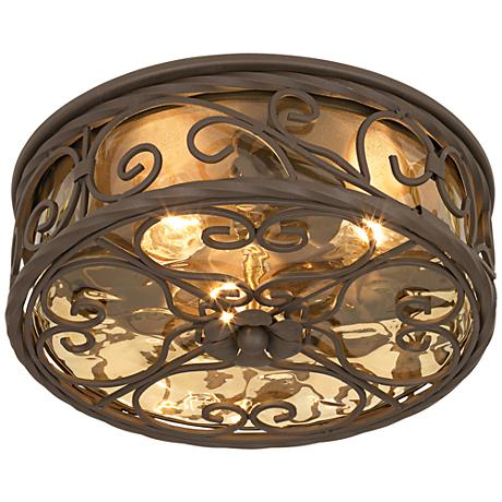 "Casa Seville 12"" Wide Indoor -Outdoor Ceiling Light Fixture"